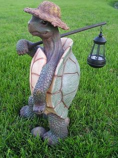 Turtle with Solar Light/Lantern, Solar Turtle Statue/Figurine by Gardengreetersllc, http://www.amazon.com/dp/B009OQNR1U/ref=cm_sw_r_pi_dp_4tqerb179G151