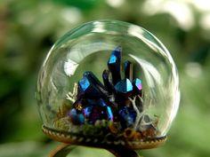 Titanium Quartz Cluster Glass Globe Ring by ThePurpleArtichoke7