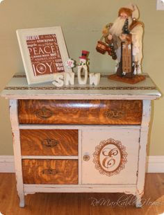 Dumpster Dive ReDo antique dresser @ ReMarkableHome.net