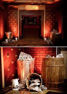 retirement_party_speakeasy_theme_trash_cans_bottles