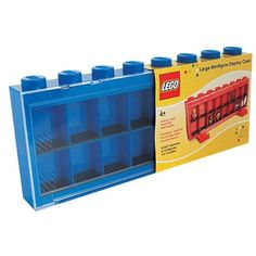 LEGO Large MiniFigure Display Case - Blue in Great Big ToysRUs Play Book from ToysRUs on shop.CatalogSpree.com, my personal digital mall.