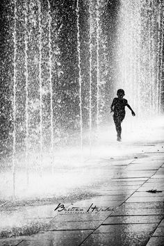 Run. Rain. Freedom. To be a Child. Silhouette. #photography #kids