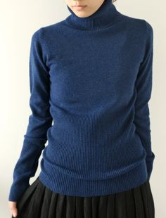 [Envelope Online Shop] Col Roule tricot. Lovely wide waist band.