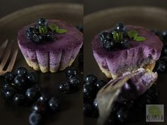 FIT serniczki jagodowe! Blueberry cheesecake cups.