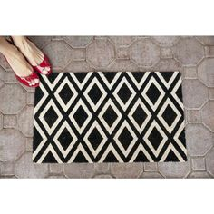 """Rhombi Non-slip Coir Doormat (17"""" x 28"""") - Overstock Shopping - Big Discounts on Door Mats"""