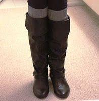 DIY Boot Leg Warmers