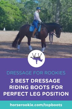 Quality dressage boots, if well made and correctly fit, can be extremely comfortable. Check out our 3 top picks for the best dressage boots riders can buy. Horse Riding, Riding Boots, Perfect Legs, Cool Boots, Dressage, Pony, Positivity, Horses, Fit
