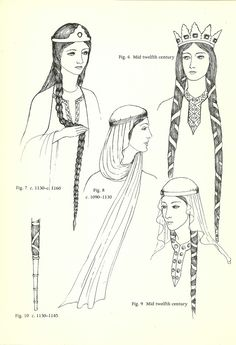 Norman Couvre-chef, hair uncovered, and extreme length - perfect for Medieval Day Medieval Costume, Medieval Dress, Medieval Fashion, Medieval Clothing, Medieval Fantasy, Anglo Saxon Clothing, History Medieval, Haunted History, Tudor History