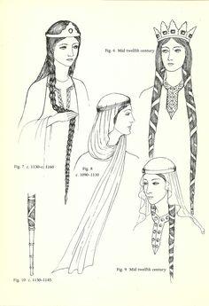Reseatch средние века. Средневековье, причёски. Головные уборы