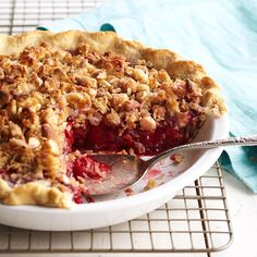 After years of baking practice, Vivian Jury created her contest-winning cherry crunch pie. Coconut, rolled oats, and white chocolate make a delicious topping for this juicy-sweet cherry treat.