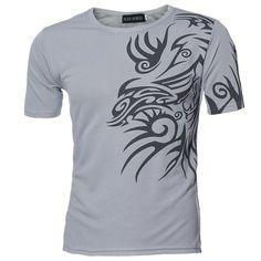 120dd65078afa0 2017 Fashion Mens T Shirt Slim Fit O Neck T shirt Men Short Sleeve Shirt  Casual tshirt Tee Tops Mens Print Shirt M 3XL 42Ja042-in Tank Tops from  Men's ...