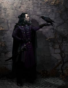 "m Bard urban Crow creativerepositoryblog: ""fantasyartwatch: ""Raven by Vera Velichko "" Some inspirational art for gaming. Make sure to check out the artist's page. """
