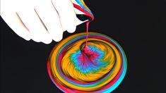 (450) SPLIT CUP pour with AMAZING details ~ Acrylic pouring technique ~ ...