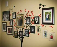 A bunch of ideas for DIY family tree wall decorating