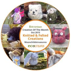 Our eco artisan creation of the month :) http://www.eco-create.co.uk/find/eco-artisan-creation-of-the-month-oct-2015-felted-knitted-creations-from-moonchildstreasures/… #ecocreatehour #felted #purewool