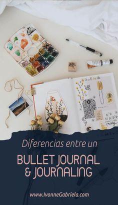 Diferencias entre un Bullet Journal & un Journaling