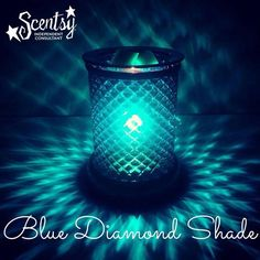 Scentsy Blue Diamond Lampshade warmer. One word - gorgeous! Perfect for Mother's Day coming up!