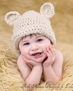 Teddy Bear Hat Made to Order by hunnybunny823 on Etsy, $15.00