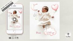 Newborn Announcement, Baby infographics. Anuncio Recien Nacido, infograf... Newborn Announcement, Animation, Invitations, Make It Yourself, Cards, Blog, Blogging, Animation Movies, Maps