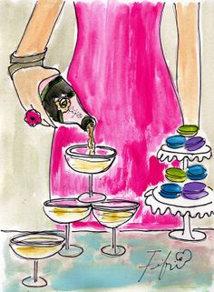 Pouring the Bubbly by fififlowers on Etsy