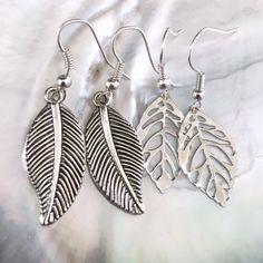ade6fc4fb Listed on Depop by karmastrings. Leaf Earrings, Silver ...