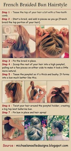 French Braided Bun Hairstyle