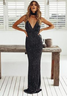 House Of Fun Maxi Dress | Black