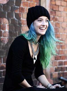 couleur cheveux vert bleu - Recherche Google