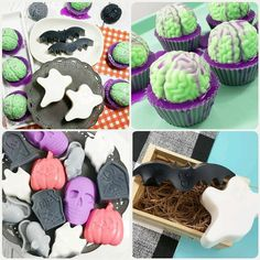 """""""Halloween is a little different this year! 🎃 Treat your people with fun soap instead 🧼"""" Zombie Cupcakes, Brain Cupcakes, Birthday Favors, Unicorn Birthday Parties, Spa Gifts, Geek Gifts, Creepy Halloween, Halloween Gifts, Gifts For Teen Boys"""