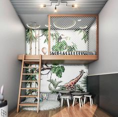 Looking for loft bed design ideas to try? We got plenty here. From a reading nook, a lounge to a home office, our loft bed ideas here will inspire you Diy Bathroom Decor, Room Decor Bedroom, Kids Bedroom, Boys Bedroom Ideas With Bunk Beds, Jungle Bedroom, Loft Beds, Bathroom Small, Bathroom Modern, Simple Bathroom