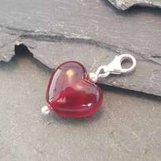 Birthstones in Glass - Cora Heart Clip on Charms European Fashion, European Style, Clip On Charms, Glass Jewelry, Birthstones, Heart Shapes, Charmed, Pendants, Sterling Silver