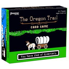 Relive the golden days of biting the dust from bloody diarrhea with The Oregon Trail Board Game, and enjoy other fun things, too, like killing Bambi and Thumper to keep from starving and conducting funerals to keep morale high.  If you went to school in the 80s, there's an excellent chance that yo