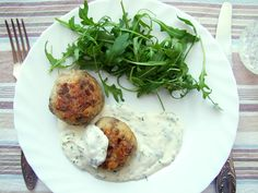 Mushroom&Rice Balls with Sour Cream Dill Sauce #vegetarian #mushroom #sourcream #recipe  Use 1 tsp. chia seeds mixed in 4 oz of water to replace egg, and extra virgin cold pressed olive oil instead of butter to make this vegan. :)