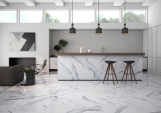 Bianco Venatino Polished Porcelain Field Tile by Roca Tile is a best tile for any room flooring in stock at mosaic tile direct, the tile shop. Stone Flooring, Hardwood Floors, Polished Porcelain Tiles, Large Format Tile, The Tile Shop, Tile Stores, Travertine Tile, Marble Tiles, Flooring Store