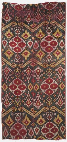 Uzbek Velvet Ikat, late 19th century.