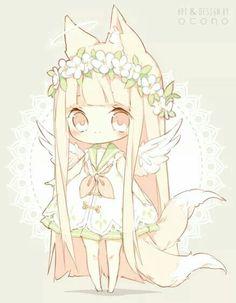 Chibi kitsune, so cute!!                                                                                                                                                                                 More