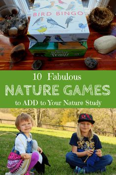 These nature games make a fantastic supplement to your nature study or a wonderful alternative for the times when Mother Nature doesn't cooperate with your plans for getting outside. Forest School Activities, Nature Activities, Outdoor Activities, Stem Activities, Outdoor Education, Outdoor Learning, Environmental Education, Education Jobs, Education Quotes