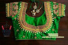 Silk Saree Blouse Designs, Silk Sarees, Work Blouse, Embroidered Blouse, Embroidery Designs, Krishna Images, Bride, Saved Items, Womens Fashion