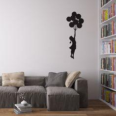 Banksy Balloon Girl Decal Vinile da Parete / Adesivi per la Casa: Amazon.it: Casa e cucina