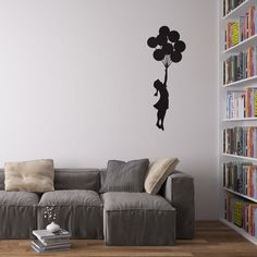 Banksy Balloon Girl Decal Vinile da Parete / Adesivi per la Casa: Amazon.it: Casa e cucina