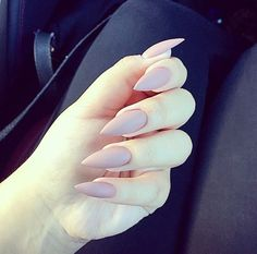 @VanityJada Nude Matte Stiletto Nails