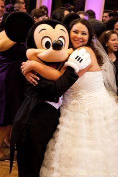 Wedding at the Disneyland Hotel - Mickey and the bride