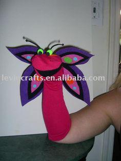 sock puppet butterfly $1.00~$3.00