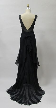 Evening dress Evening dress   Charles James  (American, born Great Britain, 1906–1978)  Date: 1930s Culture: American. Back
