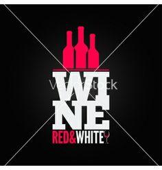 Wine bottle glass design menu background vector by Pushkarevskyy on VectorStock®