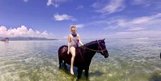 Gili-T, riding in the sea