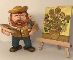 Vincent Van Gogh polymer clay figurine with