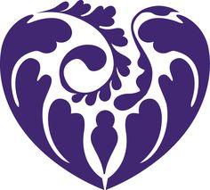 Abstract Heart Floral vinyl decal