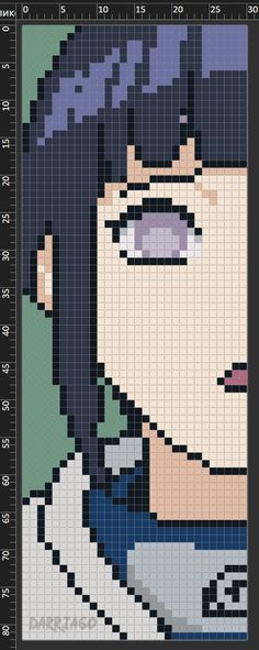 Minecraft Anime, Minecraft Pixel Art, Minecraft Designs, Easy Pixel Art, Pixel Art Grid, Beaded Cross Stitch, Cross Stitch Embroidery, Cross Stitch Patterns, Alpha Patterns