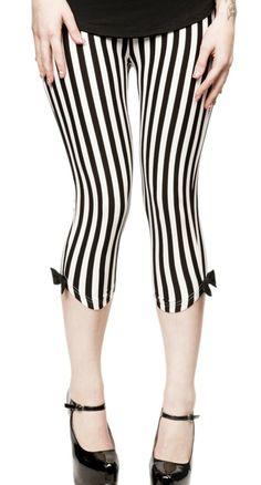 Vertical Stripes Capri Leggings - Womens | Blame Betty